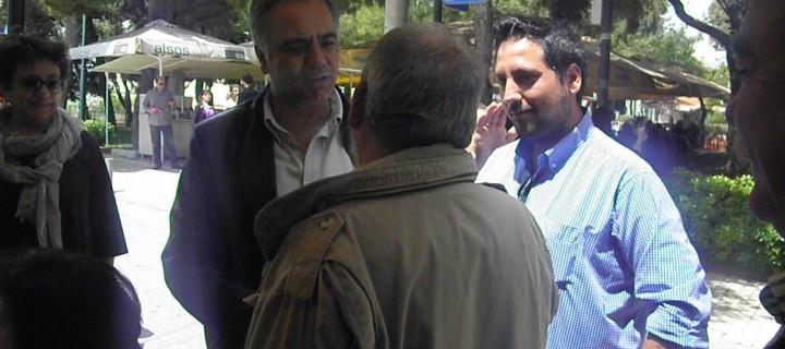 Κοινή περιοδεία του υποψηφίου Δημάρχου Κώστα Κάβουρα με τον εκπρόσωπο τύπου του ΣΥΡΙΖΑ Πάνο Σκουρλέτη