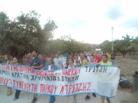 """Πλήθος κόσμου στην πορεία διαμαρτυρίας ενάντια στην εμπορευματοποίηση του Πάρκου """"Αντώνης Τρίτσης"""""""