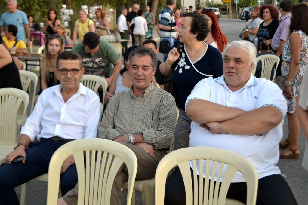 Ο Δημοτικός Σύμβουλος Ιλίου, Φώτης Μαρκόπουλος, ο Δήμαρχος Αιγάλεω, Δημήτρης Μπίρμπας και ο Δήμαρχος Αγίων Αναργύρων - Καματερού, Νίκος Σαράντης.