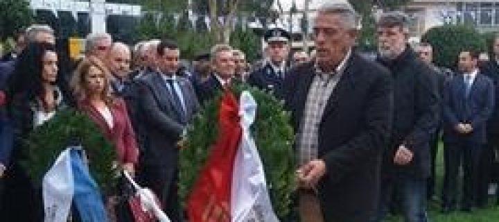 Κατάθεση στεφάνου από την Αλληλέγγυα Πόλη στους εορτασμούς για την 28η Οκτωβρίου