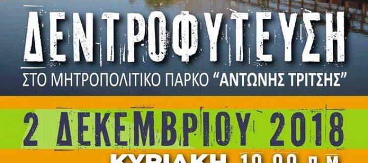 2/12: Ημέρα δεντροφύτευσης στο Μητροπολιτικό Πάρκο «Αντώνης Τρίτσης»